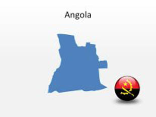 Angola PowerPoint Map Shape. 100% editable in PowerPoint!