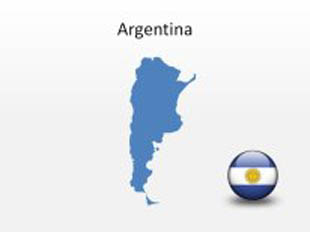 Argentina PowerPoint Map Shape. 100% editable in PowerPoint!