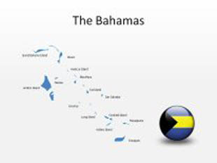 Bahamas PowerPoint Map Shape. 100% editable in PowerPoint!