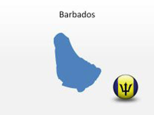 Barbados PowerPoint Map Shape. 100% editable in PowerPoint!