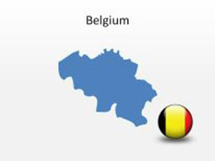 Belgium PowerPoint Map Shape. 100% editable in PowerPoint!