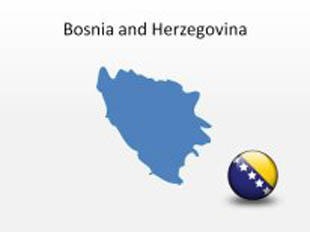 Bosnia and Herzegovina PowerPoint Map Shape. 100% editable in PowerPoint!