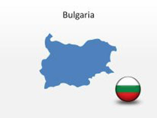 Bulgaria PowerPoint Map Shape. 100% editable in PowerPoint!