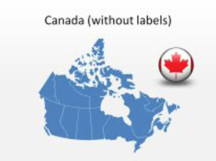 Canada 2 PowerPoint Map Shape. 100% editable in PowerPoint!