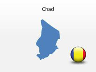 Chad PowerPoint Map Shape. 100% editable in PowerPoint!