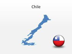 Chile PowerPoint Map Shape. 100% editable in PowerPoint!