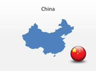 China PowerPoint Map Shape. 100% editable in PowerPoint!