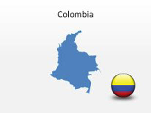 Colombia PowerPoint Map Shape. 100% editable in PowerPoint!