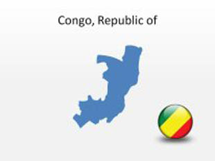 Congo RepublicOf PowerPoint Map Shape. 100% editable in PowerPoint!
