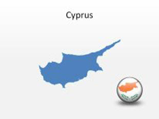 Cyprus PowerPoint Map Shape. 100% editable in PowerPoint!