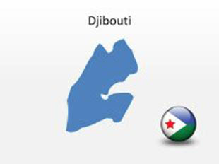 Djibouti PowerPoint Map Shape. 100% editable in PowerPoint!