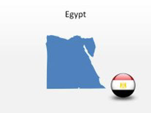 Egypt PowerPoint Map Shape. 100% editable in PowerPoint!