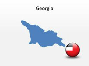Georgia PowerPoint Map Shape. 100% editable in PowerPoint!