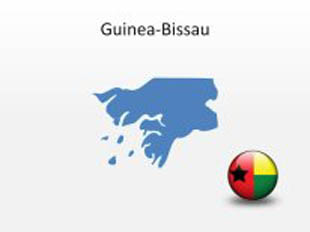 Guinea-Bissau PowerPoint Map Shape. 100% editable in PowerPoint!