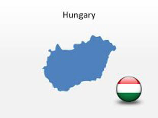 Hungary PowerPoint Map Shape. 100% editable in PowerPoint!