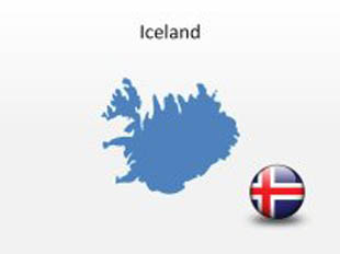 Iceland PowerPoint Map Shape. 100% editable in PowerPoint!