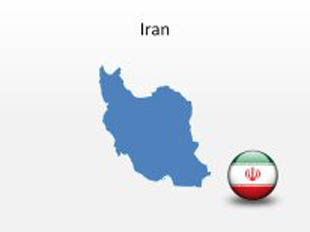 Iran PowerPoint Map Shape. 100% editable in PowerPoint!