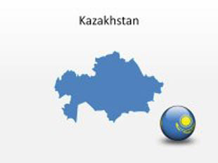 Kazakhstan PowerPoint Map Shape. 100% editable in PowerPoint!