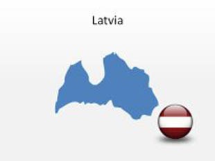 Latvia PowerPoint Map Shape. 100% editable in PowerPoint!