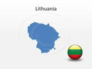 Lithuania PowerPoint Map Shape. 100% editable in PowerPoint!