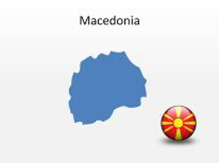 Macedonia PowerPoint Map Shape. 100% editable in PowerPoint!