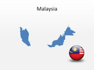 Malaysia PowerPoint Map Shape. 100% editable in PowerPoint!