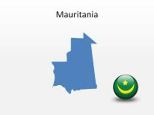Mauritania PowerPoint Map Shape. 100% editable in PowerPoint!