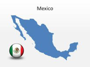 Mexico PowerPoint Map Shape. 100% editable in PowerPoint!