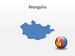 Mongolia PowerPoint Map Shape. 100% editable in PowerPoint!