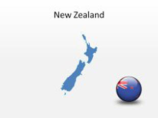 New Zealand PowerPoint Map Shape. 100% editable in PowerPoint!