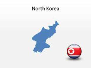 North Korea PowerPoint Map Shape. 100% editable in PowerPoint!
