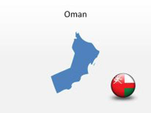Oman PowerPoint Map Shape. 100% editable in PowerPoint!