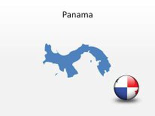 Panama PowerPoint Map Shape. 100% editable in PowerPoint!