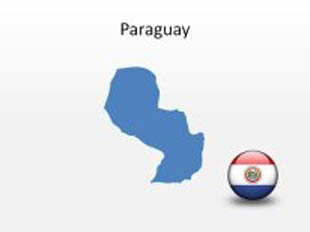 Paraguay PowerPoint Map Shape. 100% editable in PowerPoint!