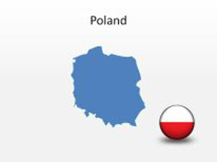 Poland PowerPoint Map Shape. 100% editable in PowerPoint!