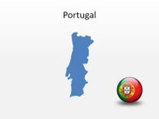 Portugal PowerPoint Map Shape. 100% editable in PowerPoint!