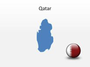 Qatar PowerPoint Map Shape. 100% editable in PowerPoint!