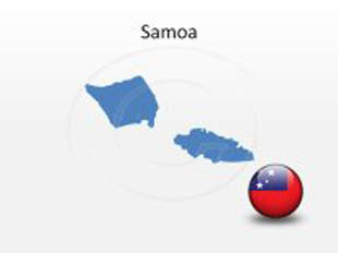 Samoa PowerPoint Map Shape. 100% editable in PowerPoint!