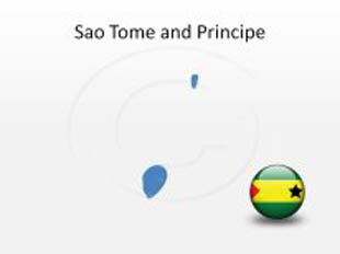 Sao Tome and Principe PowerPoint Map Shape. 100% editable in PowerPoint!
