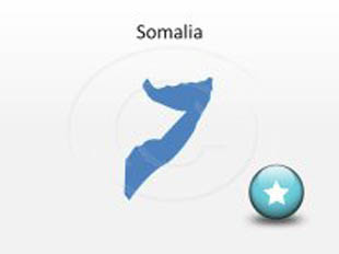 Somalia PowerPoint Map Shape. 100% editable in PowerPoint!