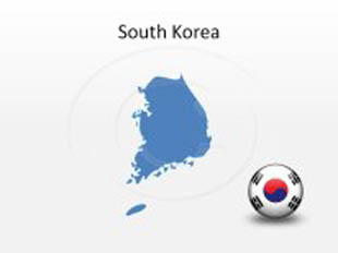 South Korea PowerPoint Map Shape. 100% editable in PowerPoint!