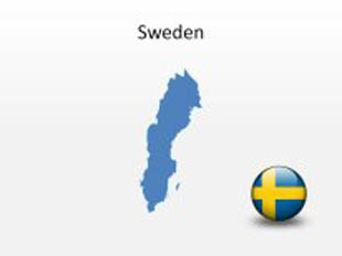 Sweden PowerPoint Map Shape. 100% editable in PowerPoint!