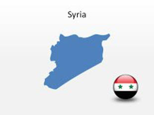 Syria PowerPoint Map Shape. 100% editable in PowerPoint!