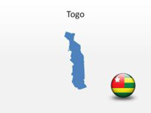 Togo PowerPoint Map Shape. 100% editable in PowerPoint!