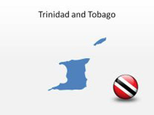 Trinidan and Tobago PowerPoint Map Shape. 100% editable in PowerPoint!
