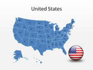 United States PowerPoint Map Shape. 100% editable in PowerPoint!