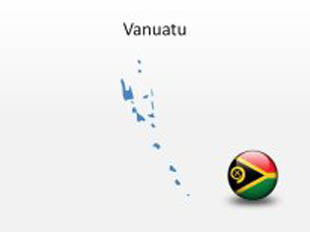 Vanuatu PowerPoint Map Shape. 100% editable in PowerPoint!