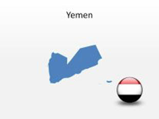 Yemen PowerPoint Map Shape. 100% editable in PowerPoint!