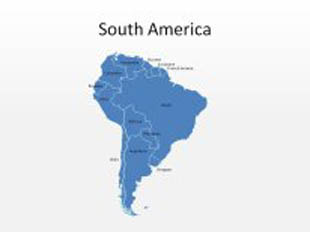 South America PowerPoint Map Shape. 100% editable in PowerPoint!