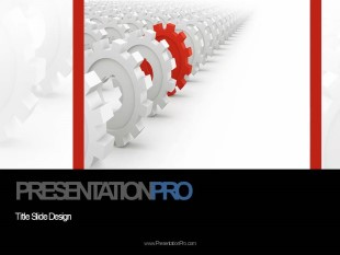 PowerPoint Templates - Animated Rolling Gear Cogs